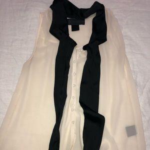 Kardashian kollection cream blouse